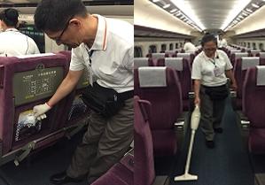 列車折返收班隨車清潔
