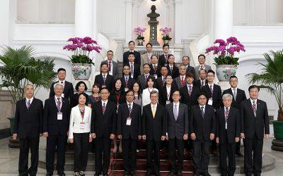 陳建仁副總統於108年10月22日接見『台灣誠信品牌』認證暨「第20屆國家建築金獎」獲獎單位代表